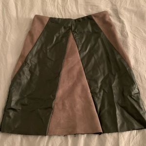 LF Suede & Leather Skirt